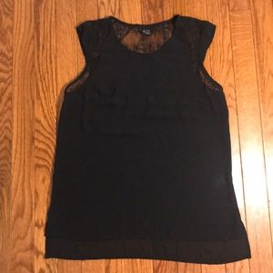 Black Massimo black dressy sheer tank top XS